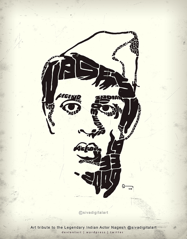 Art Tribute to Actor Nagesh-sivadigitalart_Copr_b