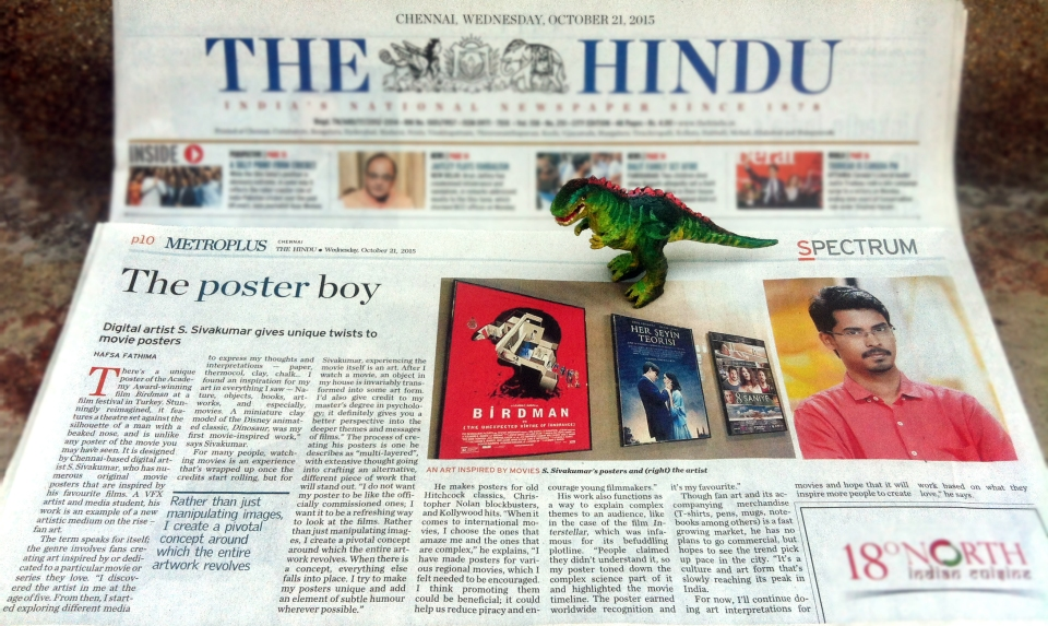 Metro Plus_TheHindu_Article_Sivadigitalart