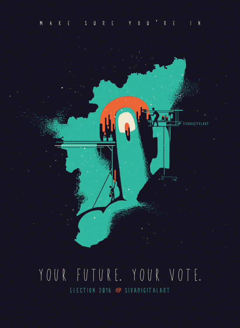 Election 2016_Sivadigitalart_poster